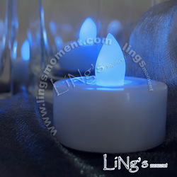 Romantic candle lamp electronic candle lights led candle acoustic control candle lamp blue(China (Mainland))