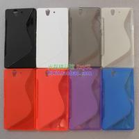 free shipping wholesale 10pcs/lot Anti-skid design tpu case,  soft TPU Case for  Sony Xperia Z l36h (C6603/ C6602)