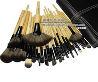 Discount 32 pcs Professional make up tools kit  Cosmetic Beauty Makeup Brush Sets professional Leather Case Bag