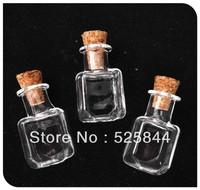 Free shipping!! 20pcs/lot Special shape A6/cute cork Mini Wish Small glass Bottle/  Perfume essential oil charm glass pendant