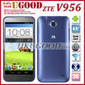 In stock Original ZTE V956 Quad Core 1.2GHz Android Phones Android 4.1 4.5 Inch IPS Screen 5.0MP Dual Sim Card Free shipping
