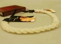 Freeshipping wholesale fashion pearl elastic headband hairband hair accessory 12pc/lot