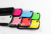 10 pcs Korean Style Cute Lovely Anti-shock High Sensitive Design Candy Colors TPU iFace Case For iPhone 4 4s + Free Shipping