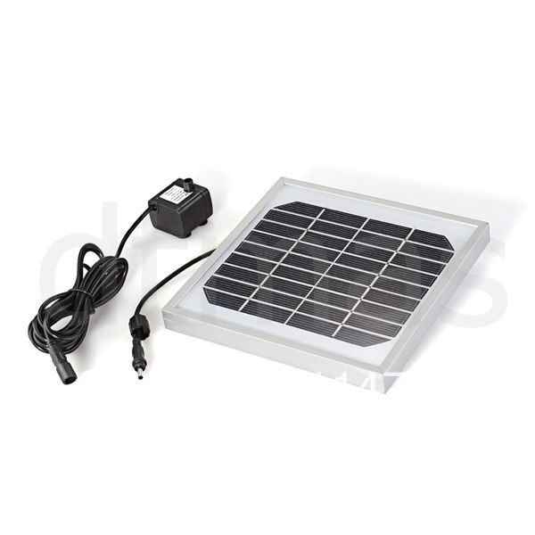 Free shipping Solar Panel Powered Water Floating Brusheless Pump Fountain Pool Garden(China (Mainland))
