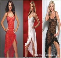 Lingerie Straps Dress Three Color Gauze Skirt Lace Nightgown Appeal Manufacturer Nightclubs YK805