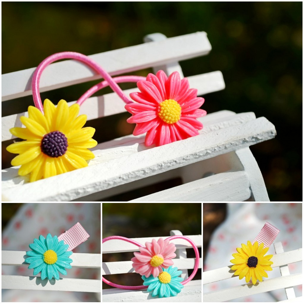 Baby hair accessory child hair clips princess hair accessory little daisy series tousheng bb clip duckbill clip rubber band(China (Mainland))