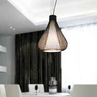Modern wrought iron lighting gourd pendant light rustic pendant light onion wrought iron pendant light lamps