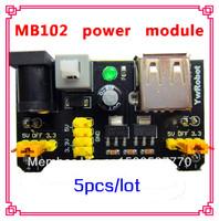 5pcs Mb102 Breadboard Power Module 3.3V 5V Solderless Bread Board dedicated power module DIY