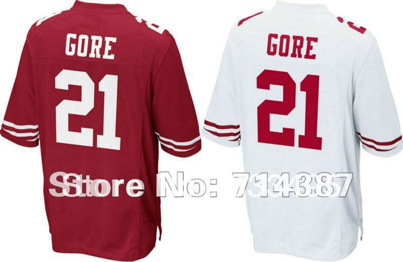 Hot sell !Retail,EMS Free Shipping,12/13 San Francisco Frank Gore #21 American football Jerseys ,Size 40-56,(Can Mix jerseys)(China (Mainland))