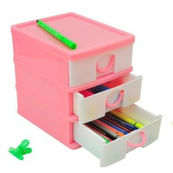 Revitalization of chm8760 mini stationery cosmetics storage drawer storage cabinet plastic storage box(China (Mainland))