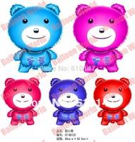 Mixed colors 10pcs/lot  foil decoration balloon cute bear foil balloon