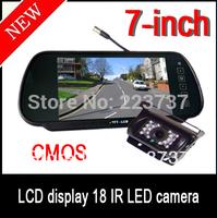 7 inch Car Monitor Mirror + 18 IR LED Night Vision Car Reversing camera