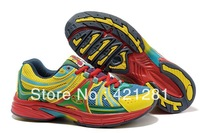 classsic fahion men running shoes 2012,color red yellow green,free shipping china post,moq 1 pair