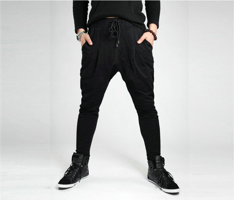 2013 Fashion Men&#39;s Harem Baggy Sweat Pants Athletic Sporty Casual Tapered Sport Hip Hop Dance Trousers Slacks Joggers SweatPants(China (Mainland))