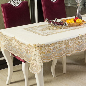 Table cloth pvc dining table cloth tablecloth plastic waterproof oil disposable fashion bronzier 137 luxury rustic 182