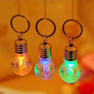 Refires motorcycle lighting seven color allochroism colorful light bulb keychain(China (Mainland))