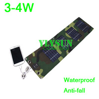3w Solar cell phone charger Outdoor emergency charge Solar charging panels Waterproof Anti-wrestling strike folding solar panel
