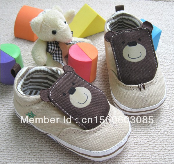0-1 year old baby cartoon baby soft bottom shoes baby toddler shoes for men and women shoes, cloth shoes free shipping(China (Mainland))