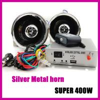 Free shipping 400W Car siren/alarm/Speaker alarm/policemen Alarm 9 sounds voice