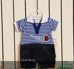 New Arrivals Baby clothing set child appreal Suspender Stripe tee + Short 80-90-100 Free Shipping(China (Mainland))