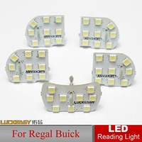 Top Quality Car LED Reading Lights Reading Light For Regal Buick Bright Auto Interior Full Set LED Dome lamp Interior Lighting