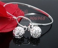 Wholesale  925 silver plated hollow bracelet charm bangles fashion jewelry 925 silver bracelet factory price gift