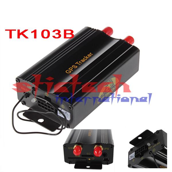 50% SHIPPING FEE TK103B GPS tracker+ Remote Control Quadband Car Alarm Free Portuguese PC GPS tracking system Google map #8228(China (Mainland))
