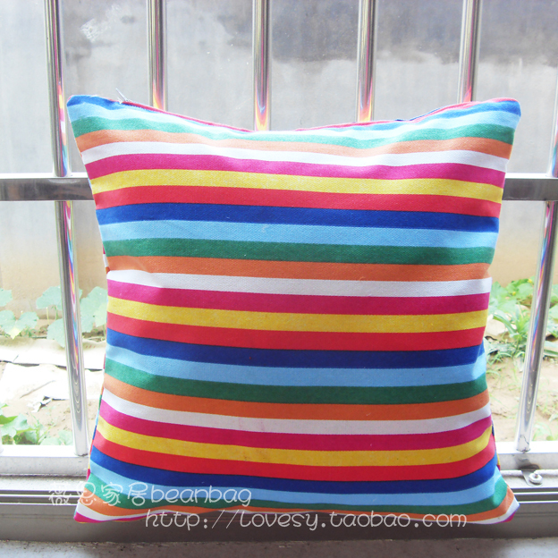 100% cotton pillow solid color canvas cushion kaozhen sofa pillow ofhead cushion large pillow(China (Mainland))