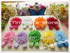 Free shipping 100pcs=50pairs/lot baby girls flower sandals 2.5&quot; shabby Shabby Flower foot  walker shoes Barefoot Sandals(China (Mainland))