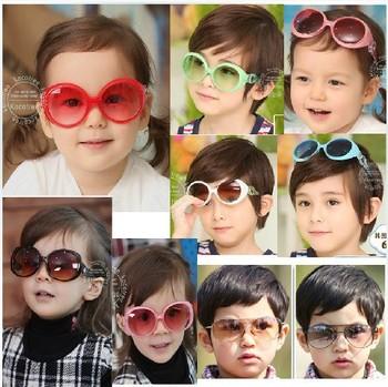 The new candy color Sunglasses UV baby glasses sunglasses star mirror