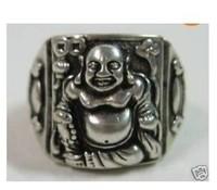 Tibet silver laughing Buddha bless ring / Free Shipping