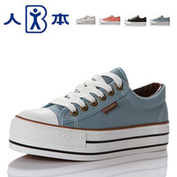 Spring new arrival platform shoes low cloth shoes women's shoes canvas shoes