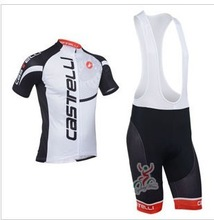 men's sportswear road racing castelli athletic bicicleta mountain bike Cycling jersey clothing bib Shorts sets ropa ciclismo(China (Mainland))