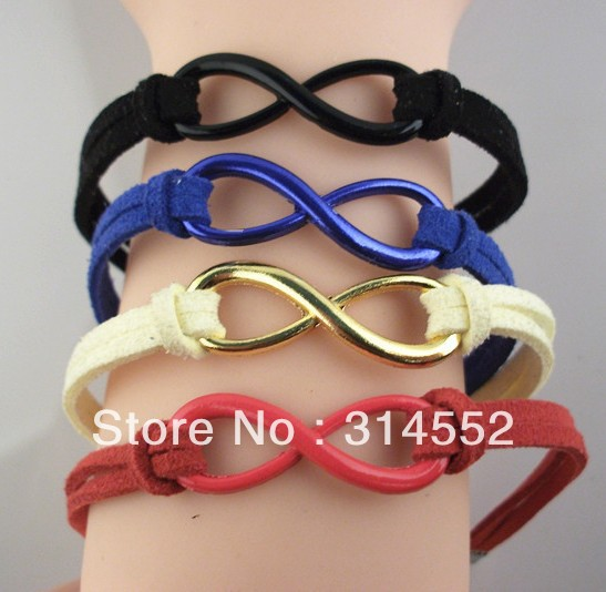 12pcs/lot Free Shipping Fashion Friendship Infinity Bracelet(China (Mainland))
