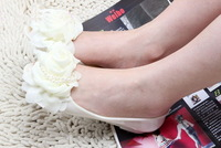 New Arrival Women's Flat Jelly Sandal Shoes with Flower Bead Slippers Lady's Peep-toe Sandal Shoes