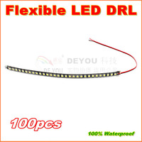 100pcs/lot Free shipping 2013 Newest 30cm 30LED 5050SMD Flexible LED Daytime Running  Light  Waterproof DRL Car Decorative Light