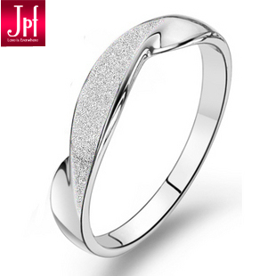 Jpf scrub ring 925 pure silver ring female women&#39;s new arrival finger ring color changing gift(China (Mainland))