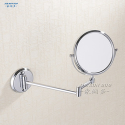 2013 Best package mail wholesale Bathroom copper bath mirror beauty mirror 6 bathroom mirror double faced makeup mirror(China (Mainland))