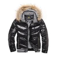 Short in size fur collar male short design plus size down coat outerwear men's clothing clothes