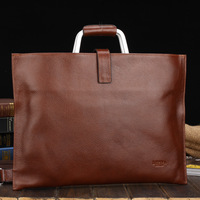 2013 man bag genuine leather male a4 commercial ol briefcase computer bag messenger bag male