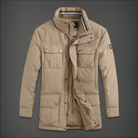 Short in size winter medium-long male down coat men's clothing plus size outerwear clothes