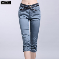 Free Shipping** 2013 casual pants female trousers plus size female skinny capris pants
