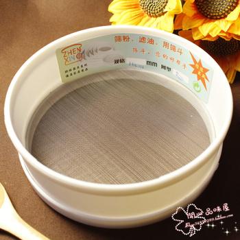 Tools 6 16cm high quality plastic flour sieve 50 circle manual screen powder sieve