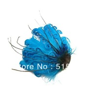 Free Shipping!Wholesale high quality, lake blue curly feather pad for baby