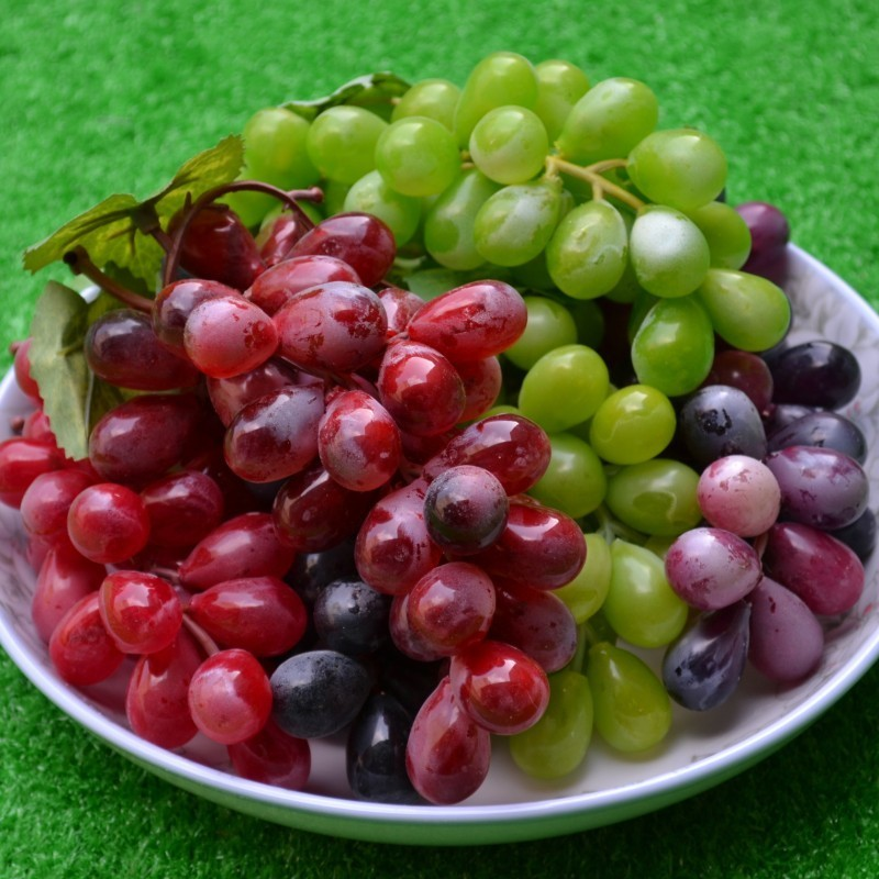 Grape bunch fake fruit platter set home decoration model plastic accessories high artificial fruit series set(China (Mainland))