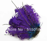 Free Shipping!Wholesale high quality, purple  curly feather pad for baby