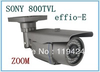 "free shipping 1/3"" SONY effio-E CCD 800TVL waterproof manual zooming lens 2.8-12mm CCTV camera"