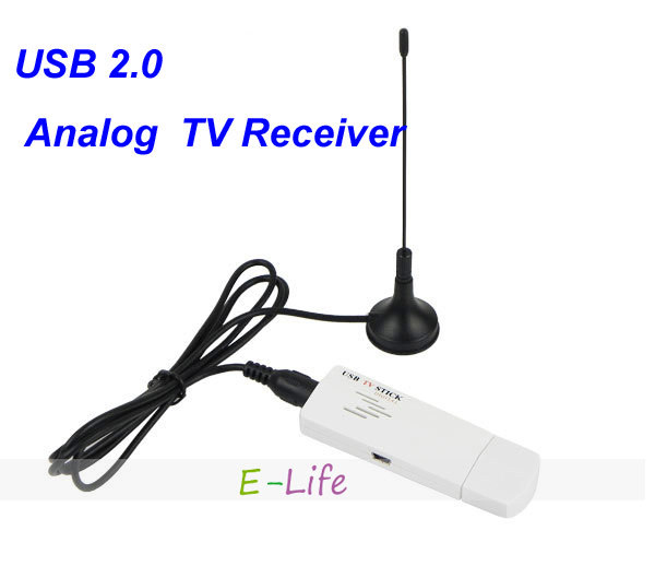 USB 2.0 Analog Signal TV Receiver Adapter Mini USB TV Tunner Stick Box for Laptop PC shipping free(China (Mainland))