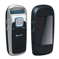 Bluetooth Car Kit Handsfree MP3 Player  speakerphone Solar Powered  FM transmitter support contacts import
