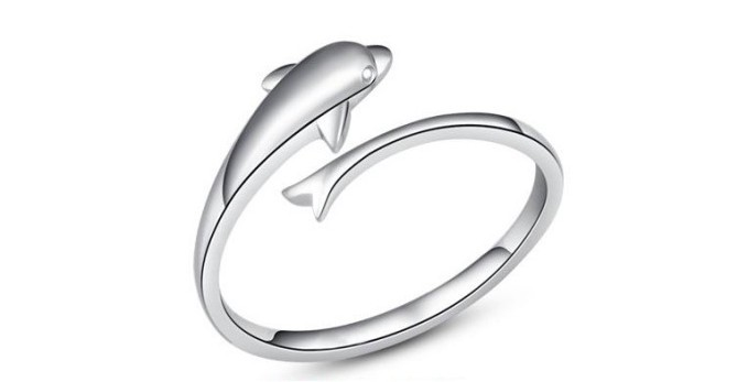 Min.order is $30 (Mix-Order) Free Shipping new fashion jewelry 2013 fashion dolphin rings promise rings,8Pcs/Lot(China (Mainland))